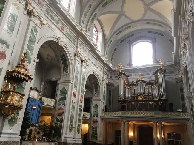 Religion Place Of Worship Indoors  Architectural Column No People Day Gold Belive Pastor God Organ Jesuitenkirche Orgel