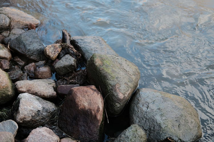 Down by the river Rock Solid Water Rock - Object Nature No People Beauty In Nature River Outdoors Sverige Sweden Naturen Shallow Stone Stenar Colors Farger Fujifilm X-pro2 Fujifilm Taking Photos Nature Photography EyeEm Best Shots Classicchrome Day Svensk Natur
