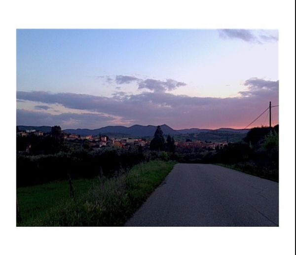 Santadi Evening Running With Friends Panorama Town Houses Little Fivehours Backtohome