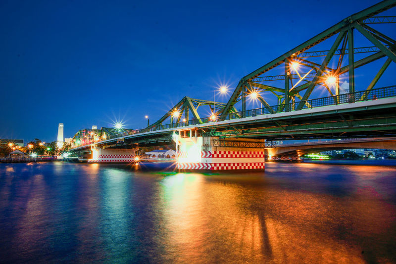 Phra Phuttha Yodfa Bridge, Memorial Bridge,bangkok,Thailand,November 2018 Bangkok Blurred Cityscape Construction Green Bridge Green Color Orange Phra Puttha Yodfa Bridge South East Asia Thai Thailand Tourist Attraction  Traffic Blue Chaophraya River Historic History Landscape Light And Shadow Memorial Bridge Night Time November 2017 Surface Level Water Wide Lens