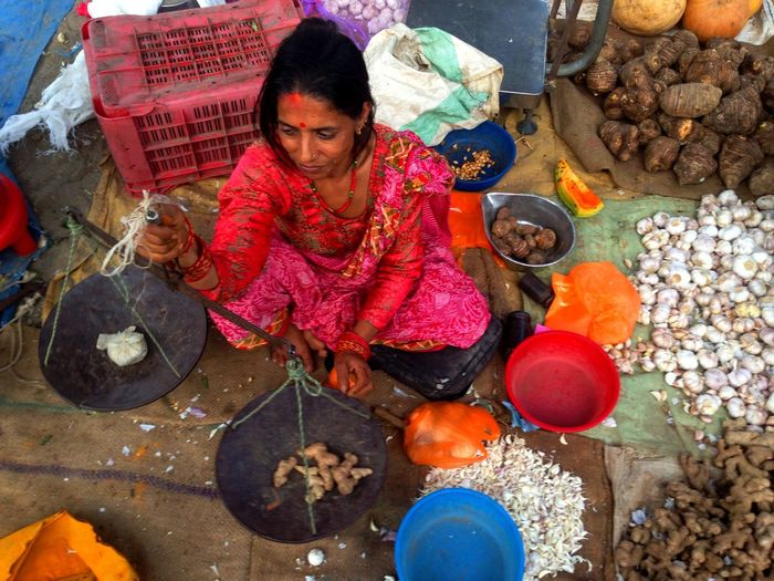 Butwal City Daily Life For Sale Haat Bazaar Iphonography WomeninBusiness Open-air Market Vegetable Market Vendor Working Business Stories