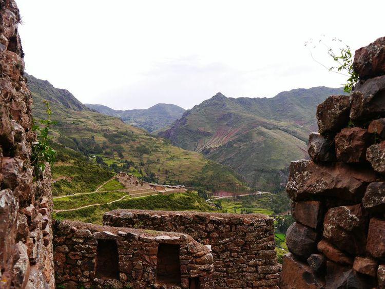 Pisac Perú Inka Outdoors Terraced Field Rural Scene Day Nature Field Mountain