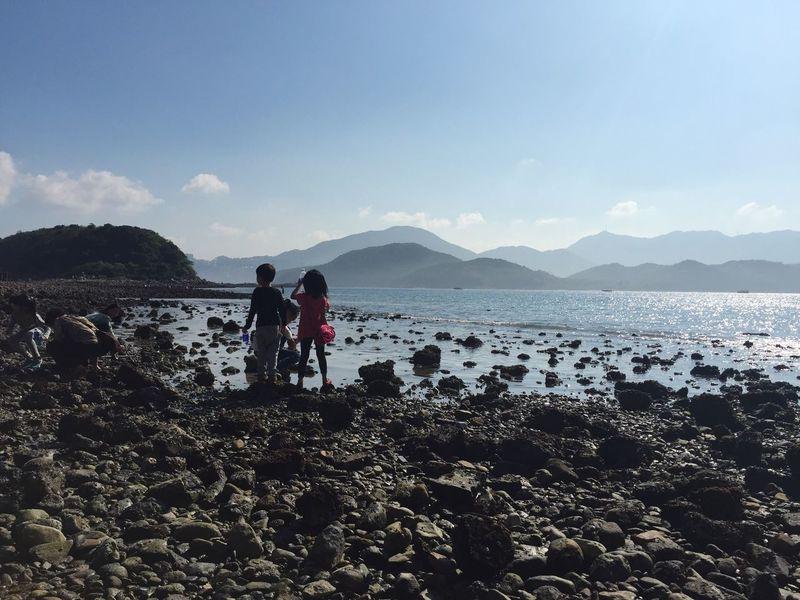 Kids Island Weekend Summer IPhoneography Seaside Rocks