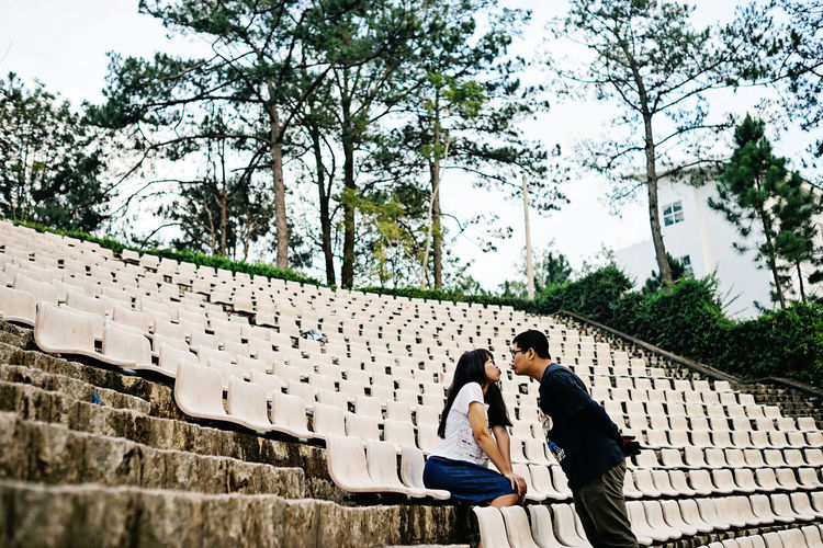 Architecture Built Structure Casual Clothing Couple Da Lat Da Lat City Dal Day High Highland K Leisure Activity Lifestyles Look Ootd Outdoors Stunning Vietnam