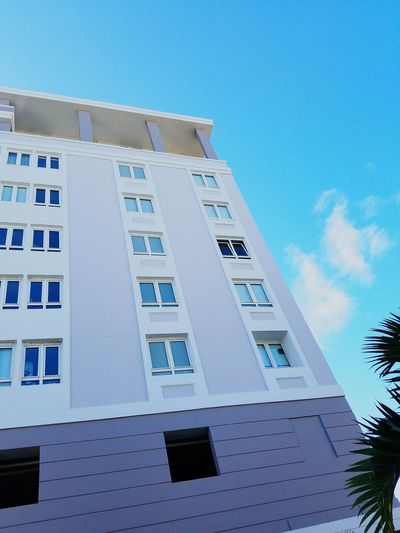 Building Exterior Architecture City Clear Sky Built Structure Low Angle View Sky Façade Archival Business Finance And Industry Outdoors No People Day Skyscraper Looking Up Architecture Open Edit Perspective Color Blockıng Minimalism Colors Of My City San Juan PR Minimalist Architecture The Graphic City