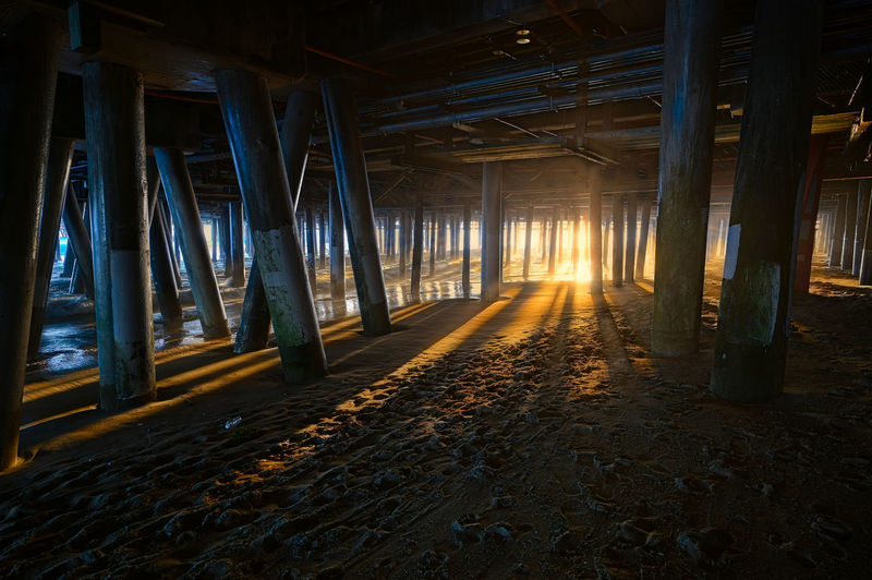 View of an empty pier