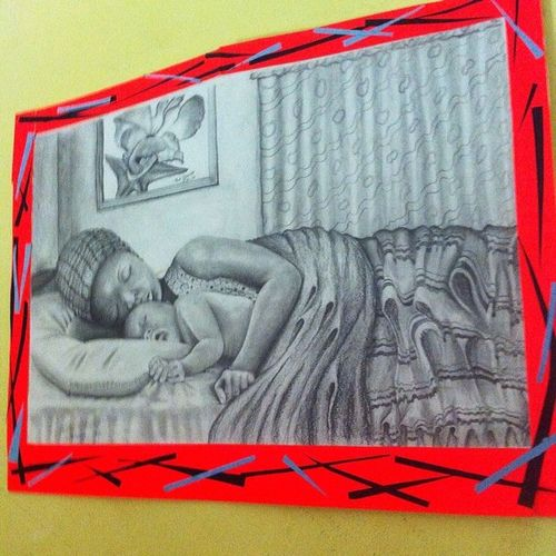 Roomietings Art Drawing Wall paper pencil blackandwhite amazing awesome african africa kenya ?✏️