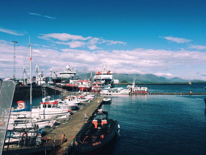 Icelandic realism Montains    Port Reykjavik Iceland Water Nautical Vessel Transportation Mode Of Transportation Sky Architecture Cloud - Sky City Sea Nature Ship Travel No People Outdoors The Traveler - 2018 EyeEm Awards