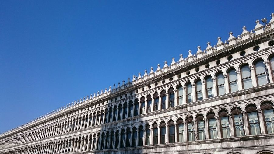 Piazza San Marco Italia Light And Shadow Holidays Blue Sky