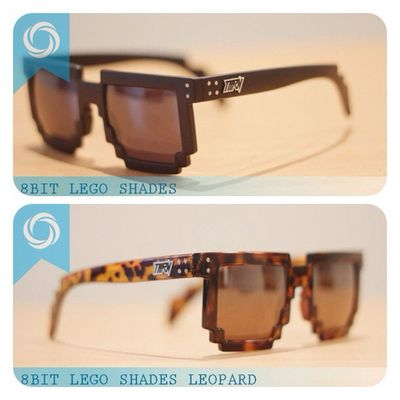 8bit shades ! 08990125182 / 237EDE37 to order. Available on black brown , dark leopard! Grab fast Flattop Eyewear Sunglasses 8bit shades lego