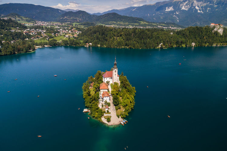 Church of the Assumption, Bled, Slovenia Bled Church Cloud Drone  Slovenia Tempe Travel Aerial Photography Aerialphotography Beauty In Nature Beauty In Nature Building Exterior Church Of The Assumption Dronephotography Famous Place Hill Idillic Island Julian Alps Lake Bled Mountain Religion Slovenian Alps Tower Water