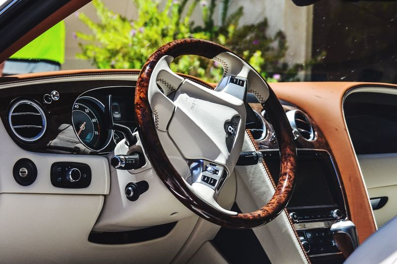 EyeEmNewHere Bentley Car Steering Wheel Day Dashboard Colors Colorful Luxury Exploring Leather Interior Design Automobile Continental