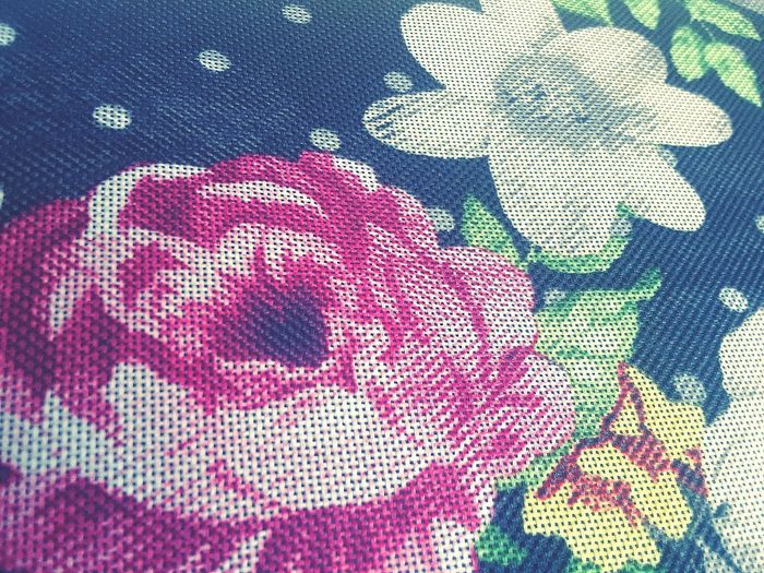Flowers Polkadots Grainy Sharp Full Frame Textile Backgrounds No People Close-up Day Indoors