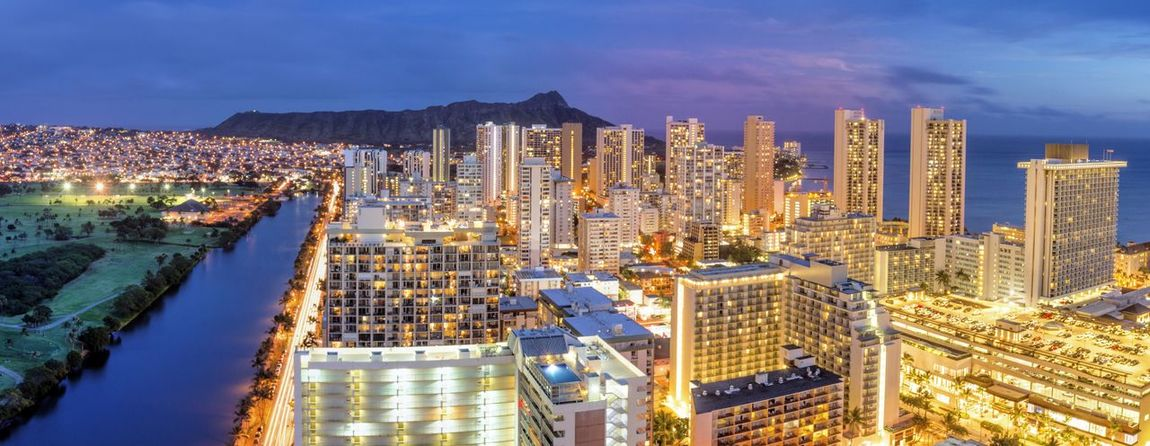 A night panoramic photo of Waikiki & Diamond Head. Hawaii Hawaii Life Night Photography Oahu, Hawaii Waikiki Apartment Architecture Building Building Exterior Built Structure City City Life Cityscape Diamond Head High Angle View Landscape Luxury Modern No People Office Building Exterior Outdoors Sky Travel Destinations Urban Skyline Water