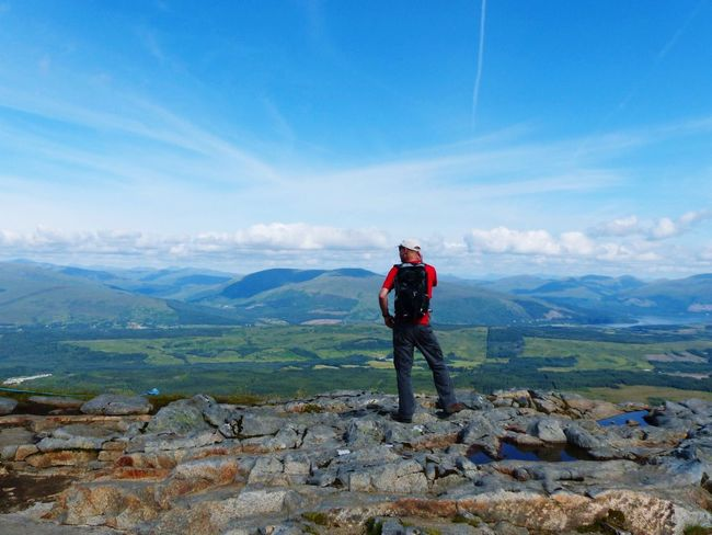 Aonach Mor Aonach Mor Scotland Scenics - Nature Mountain Leisure Activity One Person Sky Full Length Real People Beauty In Nature Cloud - Sky Tranquility Landscape Adventure