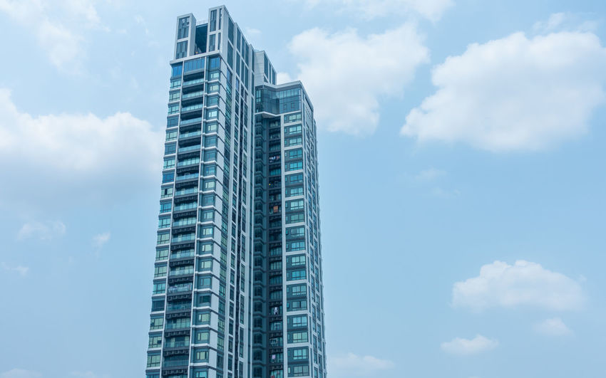 Apartment Architecture Blue Building Building Exterior Built Structure City Cloud - Sky Day Glass - Material Low Angle View Modern Nature No People Office Office Building Exterior Outdoors Sky Skyscraper Tall - High Tower