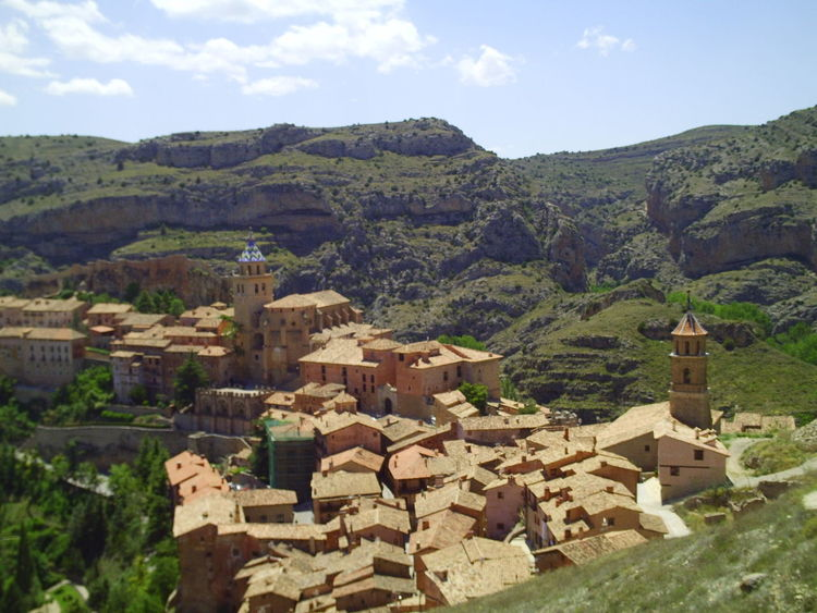Albarracín Spain. Albarracín Albarracín Spain Architecture Building Exterior Built Structure City Cityscape Day House Mountain No People Outdoors Residential Building Sky Town
