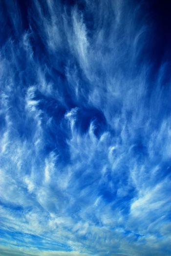 Backgrounds Beauty In Nature Blue Cirrus Cloud - Sky Day Ice Clouds Nature No People Outdoors Scenics Sky