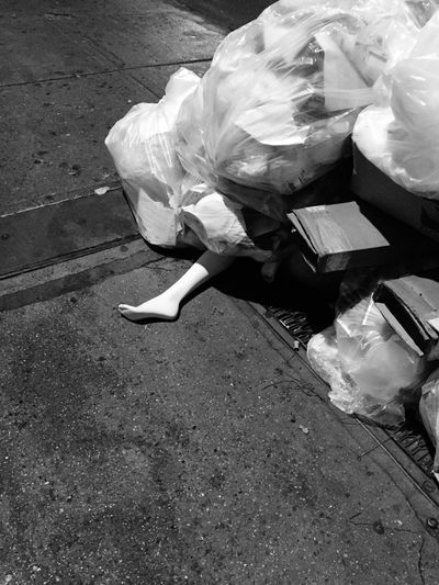Walking to subway and scared the hell out of me- Garment District Trash!! The Garment District NYCityPhotography NYC Street NYC Street Photography EyeEm In NYC 2015 Mannequin