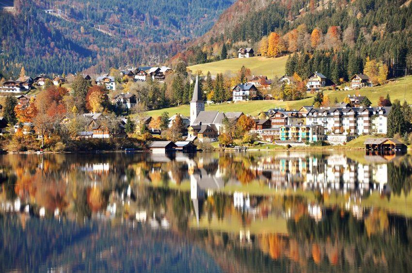 Autumn Altaussee Salzkammergut Austria Mountain Autumn Reflection Nature Water Scenics Tree Lake Mountain Range Beauty In Nature No People Landscape