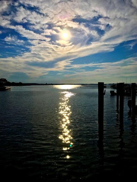 Water Sea Sky Cloud - Sky Tranquility Tranquil Scene Scenics Sunlight Beauty In Nature No People Sunset Nature Sun Horizon Over Water Reflection Outdoors Wooden Post Day OceanCity EyeEm Vision EyeEm Gallery Bay Eyeem Vision Best Eyeem Edit Best Eyeem Shot Harbor Jeff Woytovich