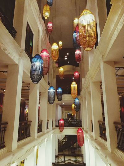 Colorful lantern. Beautiful decoration of boutique hotel in China town area if Bangkok Bangkok Thailand. Yaowarat Chinatown Colorful Decoration Lanturn