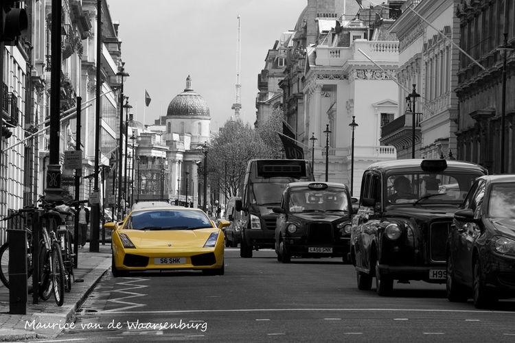 Lamborghini Gallardo in Central London London United Kingdom Lamborghini Gallardo Yellew