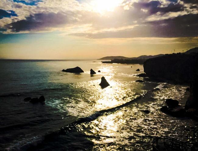 Shadows of Sundown on the California Central Coast
