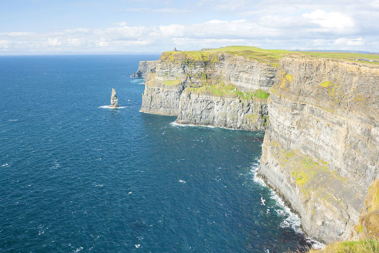 Cliffs of Moher in County Clare, Ireland Water Sea Rock Scenics - Nature Rock Formation Rock - Object Beauty In Nature Solid Nature Cliff Day Non-urban Scene Land Tranquil Scene No People Mountain Tranquility Outdoors Horizon Horizon Over Water Formation Eroded