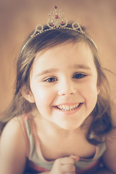 Princess Child Childhood Children Only Close-up Crown Cute Day Girls Happiness Headshot Indoors  Innocence Looking At Camera One Person People Portrait Real People Smiling Tiara