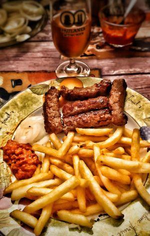 Food Ready-to-eat No People Indoors  Foodporn❤️ Beerporn Ajvar Serbian Food Cevapi Indoors  France 🇫🇷 Délicieux😋
