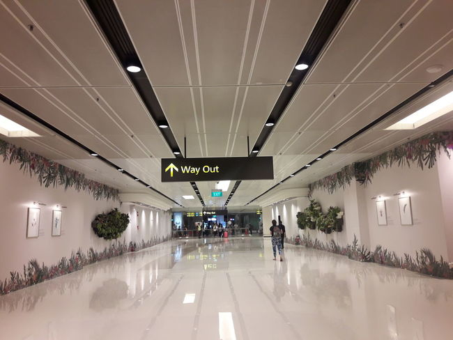 Way Out Airport Direction Flooring Indoors  Modern Sign The Way Forward Walking