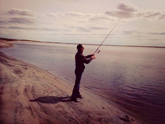 спининг Рыбалка река Лена Соттинцы