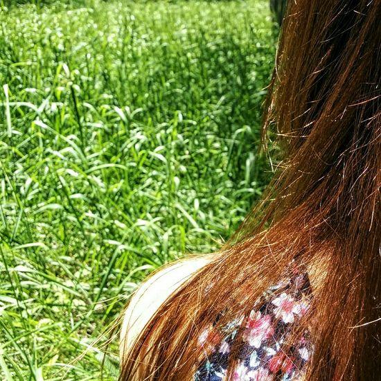 Beyond. Summer Green Girl Hair Nature