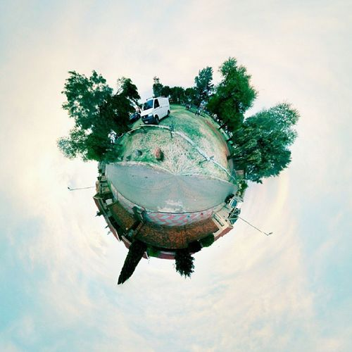 Roads are few on my Tinyplanet Officeforaday