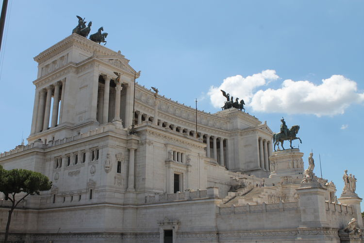 Altare Della Patria Architectural Column Architecture Building Exterior Built Structure Day Frainf Italy Low Angle View No People Outdoors Rome Sculpture Sky Statue