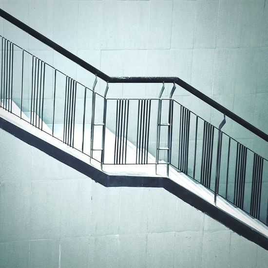 up or down with stair Railing Steps And Staircases Staircase Steps Architecture Day Built Structure No People Low Angle View Outdoors Hand Rail Sky