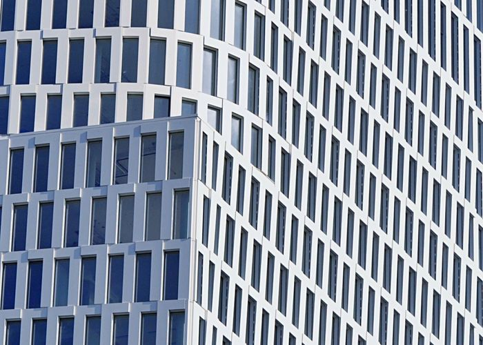 Building Exterior Built Structure Architecture Full Frame Outdoors No People City Day Backgrounds Modern Close-up Berlin Berliner Ansichten Motel One Upper West Hochhaus Highrise White Urban Geometry