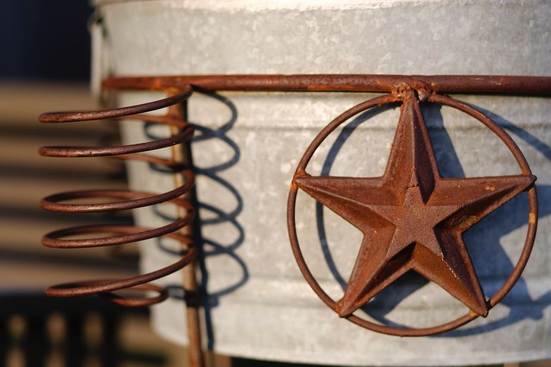 Close-up of star shape wrought iron