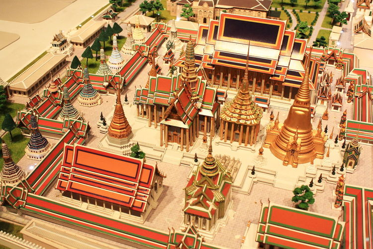 temple landmark of thailand model in museum Architecture Art Building Hollow Landmark Model Model Of Museum Museum Religion Respect For The Good Taste Temple Temple Of Royal Thai Thailand Worship