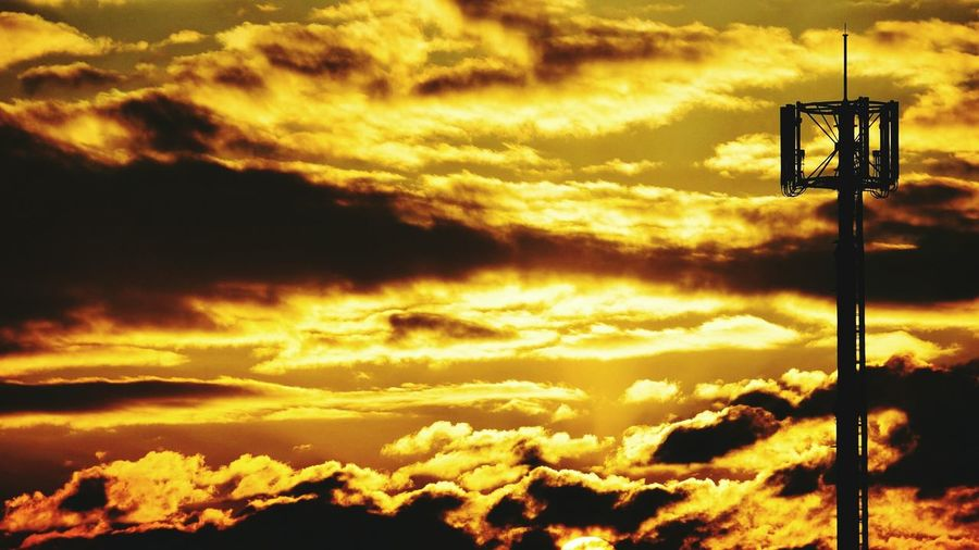 Clouds Goldenclouds Evening Sky