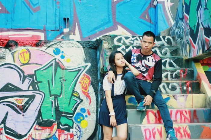 my bf Loveyou Artwall Hanging Out Taking Photos Darling♡ Someplacespecial