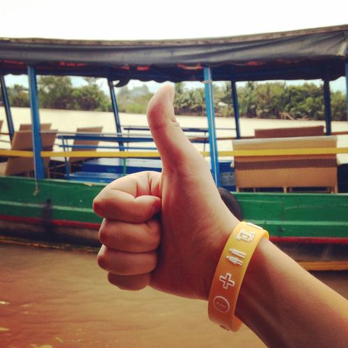 Thumbs up!? Vietnam Mekong River Thumbs Up River Asian  Trip Traveling Followme Follow Me Boats