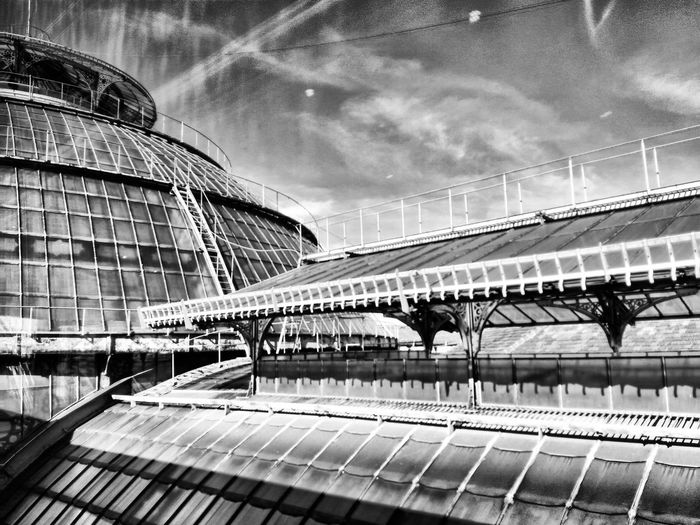 Travel Architecture Travel Destinations City Built Structure Sky Outdoors Modern No People Day Black & White Bnw Suburbanpunk City Urban Blackandwhite Bridge - Man Made Structure Bridge Bnw_captures OsservatorioPrada Prada Galleria Vittorio Emanuele Gallery Bnwphotography Observatory