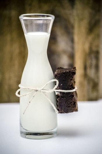 Brownie Food Food Photography Food Porn Foodphotography Foodporn I Want This Milk Simplicity Still Life Temptation Treat