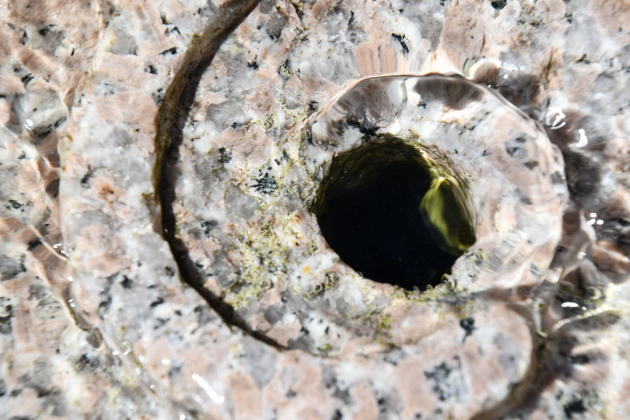 Backgrounds Circle Close-up Day Directly Above Full Frame Geometric Shape High Angle View Hole Nature No People Outdoors Pattern Rock Rock - Object Rough Shape Single Object Solid Textured  Water