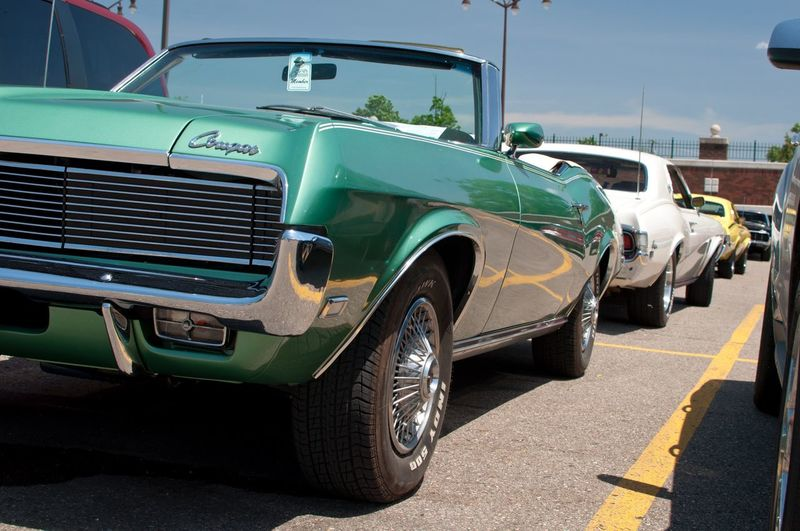 Cougars back to back Mode Of Transport Transportation Land Vehicle Car Stationary Day Outdoors No People Mercury Mercury Cougar Classic Car Vintage Cars Northville