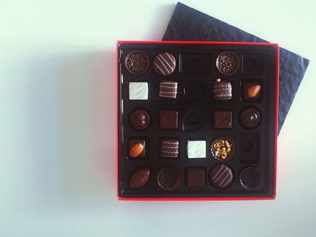 No People Indoors  White Background Close-up Day Chocolates Sweet Food Arrangement