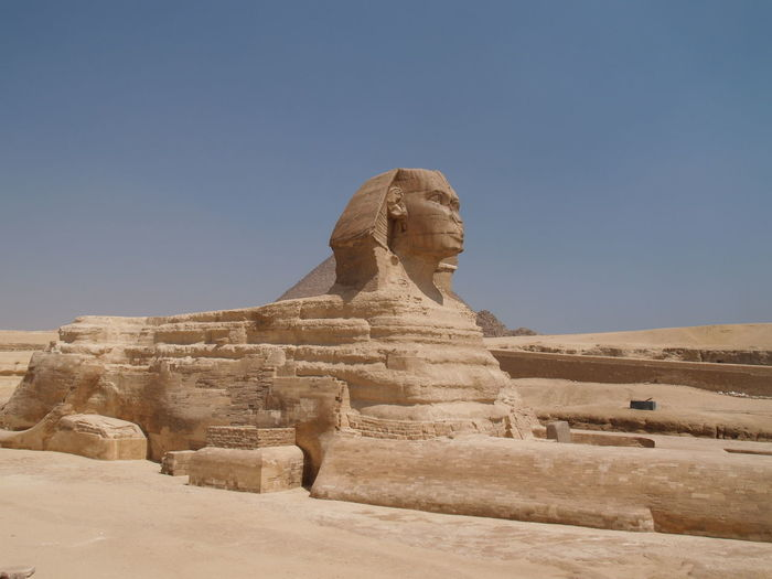 Sphinx against clear sky