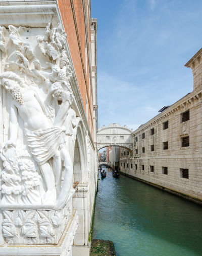 The Bridge of Sighs, Venice Interesting Perspectives Venice Canals Venice, Italy Architecture Bridge Of Sighs Canal Day Green Water Outdoors Sunny Day In Venice Travel Destinations Venice Water